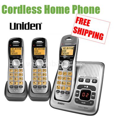 Uniden Cordless Phone Set Home Office Digital Answering Machine NBN OK DECT