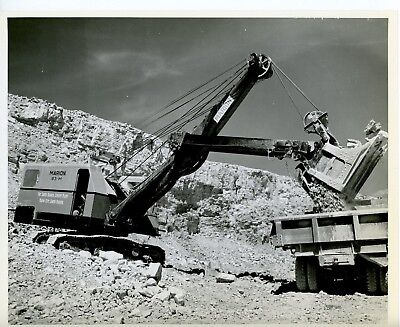 Vintage 8x10 Photo Marion Power Shovel 93-M at work in a Quarry Rapid City SD