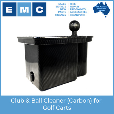 Club & Ball Cleaner (Carbon) for Golf Carts - Genuine Club Clean