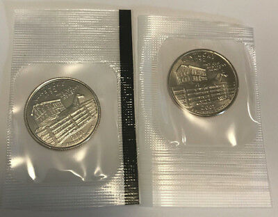 2001 P D Kentucky State Quarter BU in US Mint Cello - 2 Coin Uncirculated
