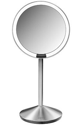 simplehuman 10X Magnify Cosmetic Mirror Sensor Light Rechargeable & Travel Case