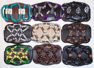 """Double Hair Combs, Angel Wings Clips 4x3.5"""", African Butterfly Style,Quality S74"""