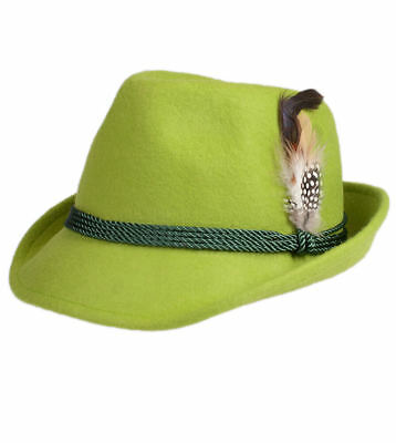 Schuhmacher Traditional Costume Hat HT750 Apple with Feather