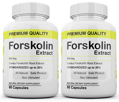 2 Maximum Strength 100% Pure Forskolin 800mg Rapid Results! Forskolin Extract