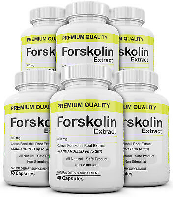 6 Maximum Strength 100% Pure Forskolin 800mg Rapid Results! Forskolin Extract
