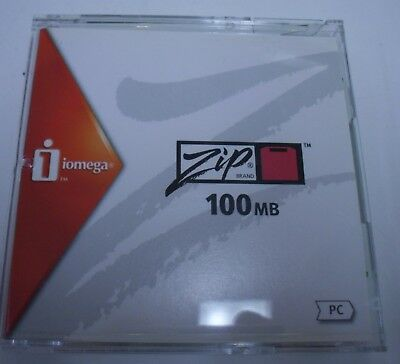 Brand New iomega 100MB Zip Disk PC Format Manufacturer Discontinued Product