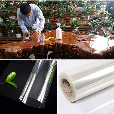 2 Mil SELF ADHESIVE STICKER FILM VINYL WINDOW FURNITURE TRANSPARENT FILM