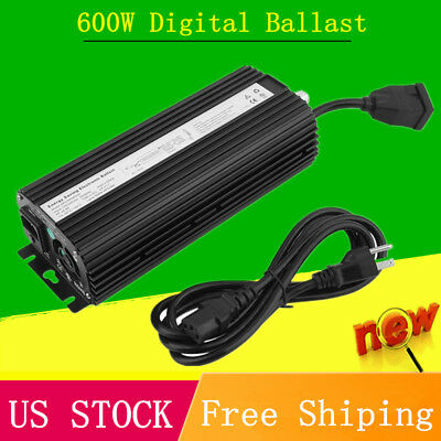 600w Watt Dimmable Electronic Digital Ballast for Grow Light HPS MH UL Listed TO
