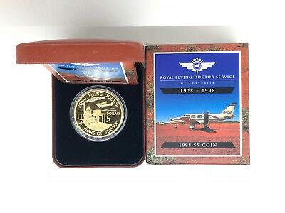 1998 $5 Royal Flying Doctor Service Proof Coin