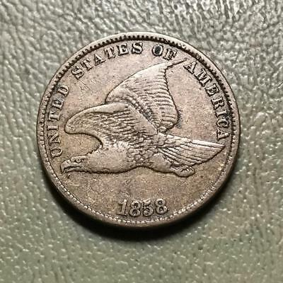 1858  Small Letter  Flying Eagle   Vf   #7742