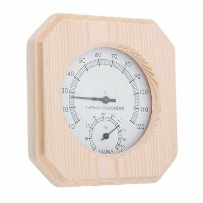Sauna Wooden Hygrothermograph Thermometer Hygrometer For Sauna Room