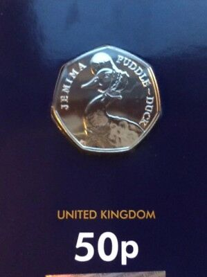 2016 Jemima Puddle-Duck 50p coin CERTIFIED as Brilliant Uncirculated quality.