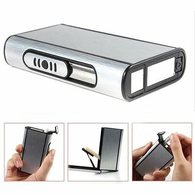 Automatic Ejection Cigarette Box Holder Aluminum Pocket Cigarette Case Composite