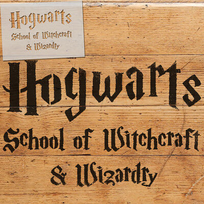 Hogwarts School STENCIL Paint Wooden Signs, Fabrics, Walls, Decor Craft Reusable