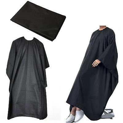 Pro Salon Hair Hairdressing Hairdresser Cutting Gown Barber Cape Cloth Black NEW