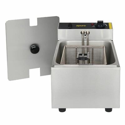 Apuro Bench Top Deep Fryer 5Ltr - Single Pan | Commercial,  Counter, Hot, Chips