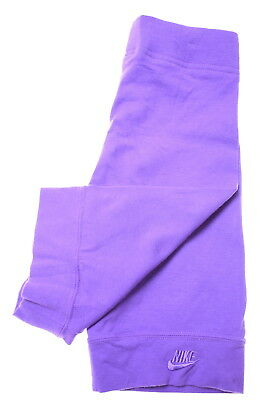 NIKE Girls Trousers Size 5 Medium W20 L8 Purple Cotton