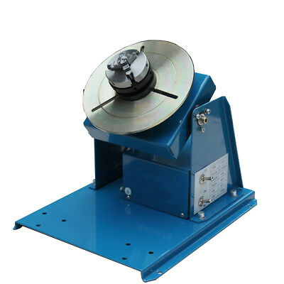 "110V Rotary Welding Positioner Turntable Table 2.5"" 3 Jaw Lathe Chuck 2-20RPM US"