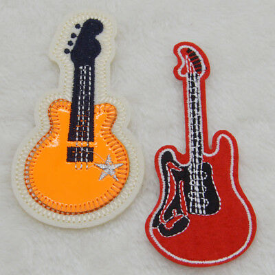 Flamenco Guitar Embroidered Sew IronOn Patches Badge Fabric Bag Clothes Applique