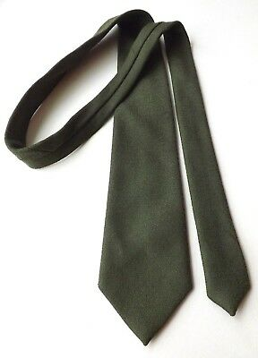 Vintage NEW! CRAIGMILL Wool Neck Tie Mid Green Made in Scotland FREE P&P