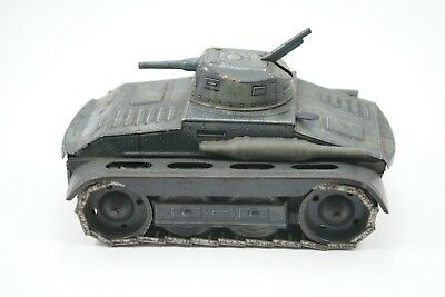Arnold A680 Panzer tank windup mechanisch works military toy tin Blech Militär
