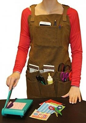 Smith Forge (Brown) Heavy Duty Waxed Canvas Work-Shop-Tool Apron 11Pockets