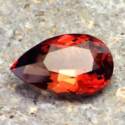 RED OREGON SUNSTONE 2.36Ct FLAWLESS-INCREDIBLE COLOR-FOR TOP JEWELRY-VIDEO!