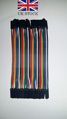 40pcs 10cm Female to Female dupont jumper cable Raspberry PI,Arduino,Solderless