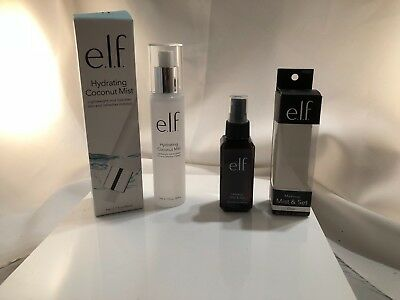 NEW ELF Makeup Mist & Set Setting Spray Clear & Hydrating Coconut Mist