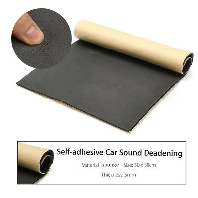 30 x 50cm Car Van Sound Proofing Deadening Insulation 5mm Closed Cell Foam