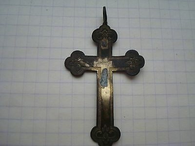 Ancient Bronze Cross 17-18th century.