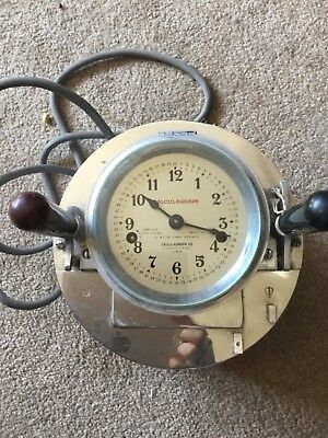 Antique vintage pool hall Billards time clock timer Calculagraph excellent used
