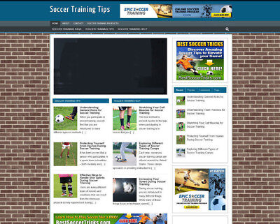 Football Training Advice Store And Uk Affiliate Website + Videos - New Domain