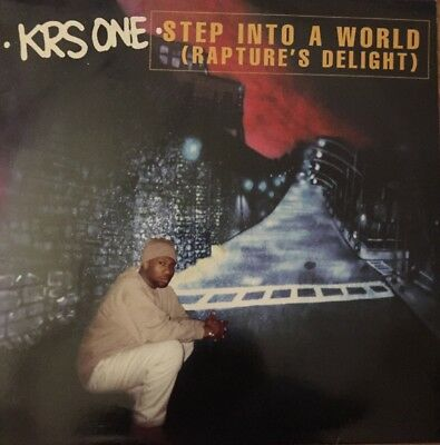 "KRS-One 12"" Vinyl(Maxi) Step Into A World Rapture's Deligt in Schutzhülle"