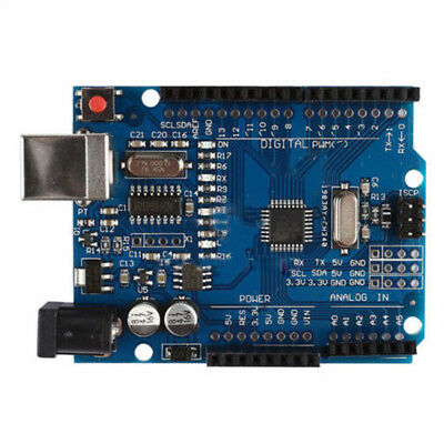 For Arduino Uno R3 Atmega328 Mega16u2 Compatible Board Replacement W/ Usb Cable