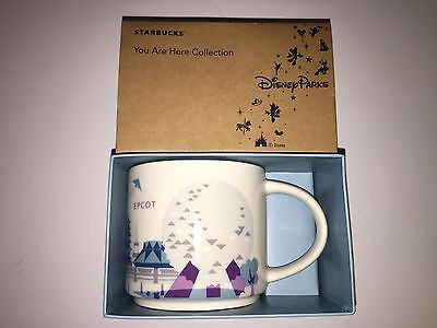 Disney Parks Epcot Starbucks You Are Here Coffee Mug Silver Monorail New Box