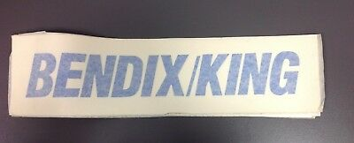 Large BENDIX KING Window Decal, Vintage, Blue Letters