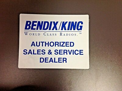 BENDIX KING World Class Radios, Authorized Sales & Service Dealer, Vintage Decal