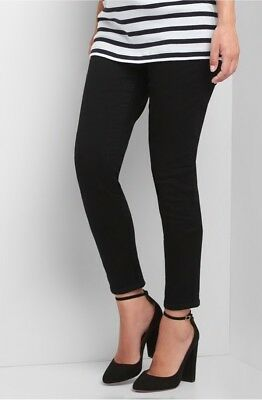 Gap Black Maternity full panel true skinny jeans ~ NWT 8