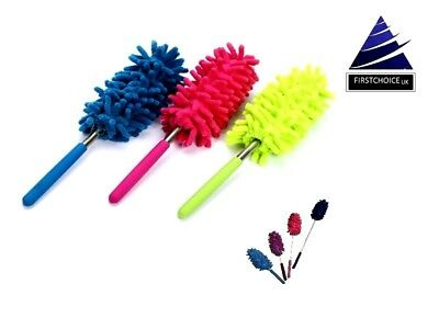 New Microfibre Expandable Hand Duster  Washable Microfiber Max Reach Easy To Use