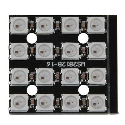 WS2812B 4*4 16-Bit 5050 RGB LED Lamp Panel Light For Arduino PXmu
