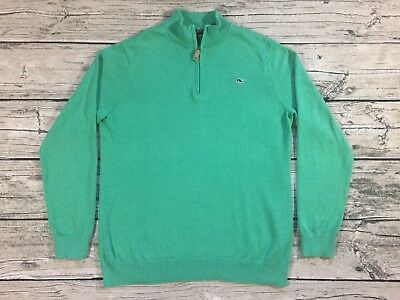 Vineyard Vines 1/4 Zip Pullover Sweater Youth XL (20) Green