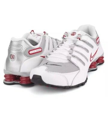 best sneakers 8f297 68d5a ... order new nike shox nz og mens sz 8 running shoes sneakers red white  gray 378341