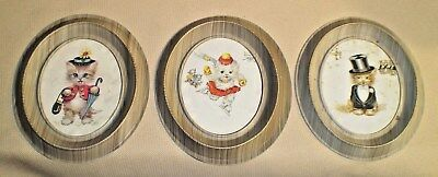 Vintage KITTEN Print Collection Celluloid Frame 780s