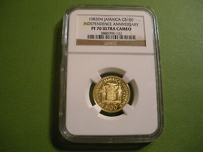1983 Jamaica Gold $100 Independence Anniversary NGC PF 70 Ultra Cameo