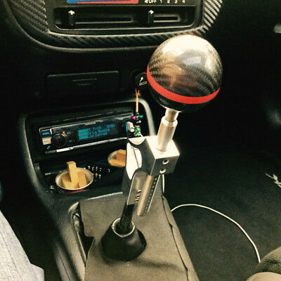 Auto Lever Gear Shifter Shift Knob Extender Extension Adjustable Bar M10X1.5 Red