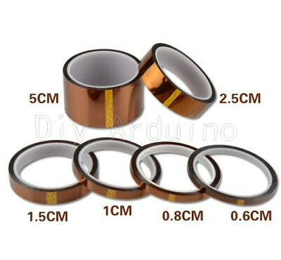 33M 5/10/20/30/50mm Gold High Temperature Heat Resistant Kapton Tape Polyimide