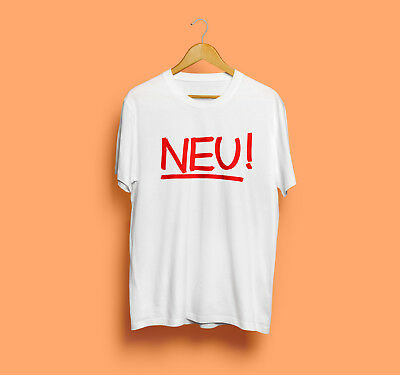 NEU GERMAN ROCK Band Music T-Shirt Vintage Reprint Logo New Tee Usa Size S  - 2XL