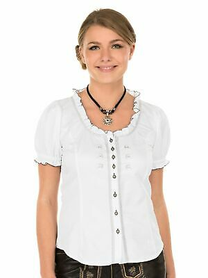 Orbis Traditional Costume Blouse 951058-2879 Frilled Blouse White