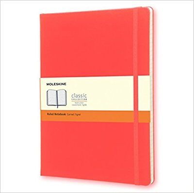 Moleskine Hard Cover Ruled Classic Notebook - Geranium Red